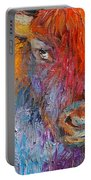 Buffalo Bison Wild Life Oil Painting Print Portable Battery Charger
