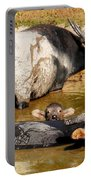 Water Buffalo Family Portrait Portable Battery Charger