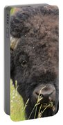 Buffalo In Flowers Portable Battery Charger