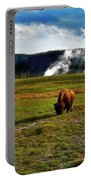 Buffalo In Yellowstone Portable Battery Charger