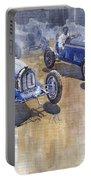 Bugatti 51 Alfa Romeo 8c 1933 Monaco Gp Portable Battery Charger