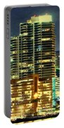 Building At Night With Lights Portable Battery Charger