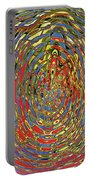 Building Of Circles And Waves Colored Yellow Red And Blue Portable Battery Charger