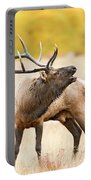 Bull Elk Bugling In The Fall Portable Battery Charger