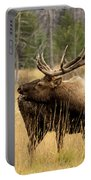 Bull Elk Sideview Portable Battery Charger