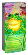Bull Frog And The Moon Portable Battery Charger