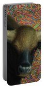 Bull In A Plastic Shop Portable Battery Charger by James W Johnson