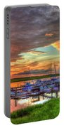 Bull River Marina Sunrise 2 Sunrise Art Portable Battery Charger