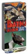 Bull Terrier Art Canvas Print - Batman Movie Poster Portable Battery Charger