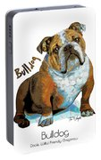 Bulldog Pop Art Portable Battery Charger