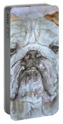 Bulldog - Watercolor Portrait.5 Portable Battery Charger