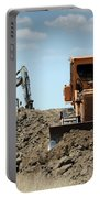 Bulldozer And Excavator On Road Construction Portable Battery Charger