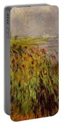 Bulrushes On The Banks Of The Seine 1874 Portable Battery Charger