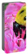 Bumble Bee And Flower Portable Battery Charger