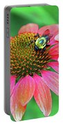 Bumble Bee On Flower Portable Battery Charger