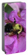 Bumble Bee On Rhododendron Blossoms Portable Battery Charger