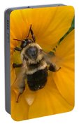 Bumble Bee On Yellow Nasturtium Portable Battery Charger