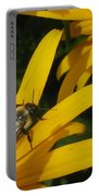 Bumble Bee Sitting On Black-eyed Susan Portable Battery Charger
