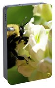 Bumble Bee Portable Battery Charger by Valeria Donaldson