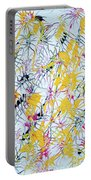 Bumble Bees Against The Windshield - V1vc100 Portable Battery Charger
