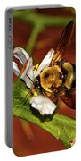 Bumblebee On A Hardy Orange Blossom 002 Portable Battery Charger