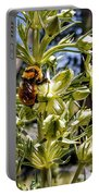 Bumblebee On Elkweed Blossoms Portable Battery Charger
