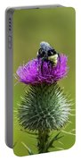 Bumblebee On Thistle Portable Battery Charger