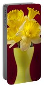 Bunch Of Daffodils Portable Battery Charger
