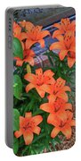 Bunch Of Orange Lilies Portable Battery Charger