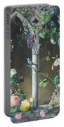 Bunches Of Roses Ipomoea And Grapevines Portable Battery Charger