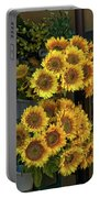 Bunches Of Sunflowers Portable Battery Charger