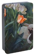 Bunnies In The Blooms Portable Battery Charger