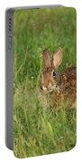 Bunny At Breakfast Portable Battery Charger