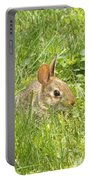 Bunny In The Grass Portable Battery Charger