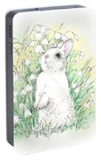 Bunny In White Portable Battery Charger
