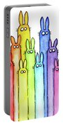 Bunny Rainbow Pattern Portable Battery Charger