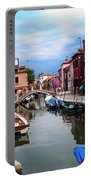 Burano Canal And Homes Portable Battery Charger