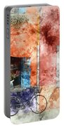 Burano Italy Digital Watercolor On Photograph Portable Battery Charger