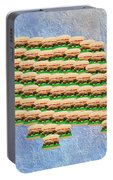 Burger Town Usa Map Portable Battery Charger