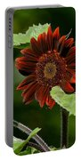 Burgundy Red Sunflower Portable Battery Charger