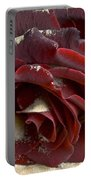 Burgundy Rose Portable Battery Charger