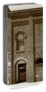 Burlington North Carolina - Arches And Alley Sepia Portable Battery Charger