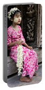 Burmese Flower Vendor Portable Battery Charger