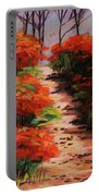 Burning Bush Along The Lane Portable Battery Charger