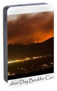 Burning Foothills Above Boulder Fourmile Wildfire Panorama Poster Portable Battery Charger