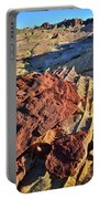 Burnt Orange Wave Of Sandstone In Valley Of Fire Portable Battery Charger