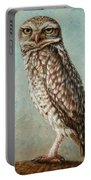 Burrowing Owl Portable Battery Charger by James W Johnson