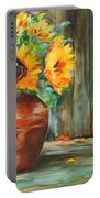 Bursts Of Sunshine Portable Battery Charger by Wendy Ray