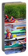 Burton Canoe Race At The Start Portable Battery Charger