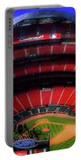 Busch Stadium A Zoomed View From The Arch Merged Image Portable Battery Charger